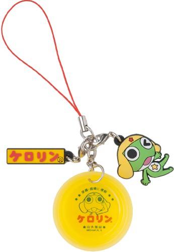 ケロリングッズ【☆ケロロ☆×ケロリン ラバーマスコット付1/6桶ストラップ】